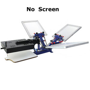 Screen Printing Machine 3 Color Silk Screen Press Printer Rotary Flash Dryer