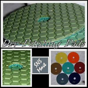 4 Pro Dry Diamond Polishing Pads Granite Marble Set