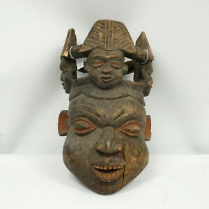 African Helmet Artifact Large Banum Helmet Portrait Mali Circa 20th C Wood Mask