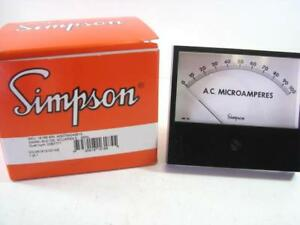 Simpson 16185 Ac Current 0 100 Analog Panel Meter New