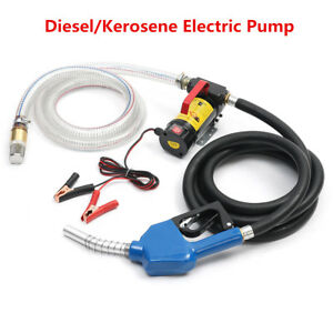 12v Electric Diesel Kerosene Fluid Transfer Pump Oil Commercial Auto Portable Us