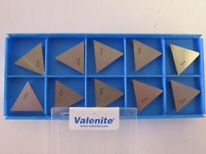 Lot Of 10 Valenite Tpg431 Vc2 Carbide Inserts New