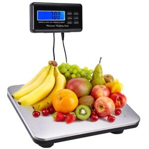 Us 660lbs Lcd Ac Digital Floor Bench Scale Stainless Steel Platform 300kg Weight