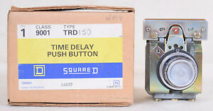 Square D Time Delay Push Button Switch 84332 Type Trd 150
