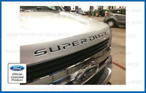 2019 Ford F250 Super Duty Hood Letters Decals Stickers Matte Black Blackout