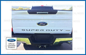 2019 Ford F250 F350 Super Duty Tailgate Letters Inserts Decals Stickers Inlays