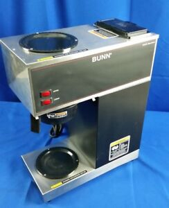 Bunn Commercial Coffee Maker 33200 Vpr Series 2 Warmers Strainer Stainless