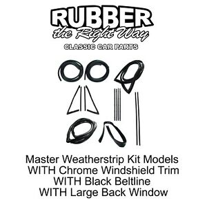 1967 1970 Chevy Gmc Truck Master Weatherstrip Kit Large Back Glass