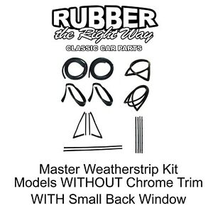 1967 Chevy Gmc Truck Master Weatherstrip Kit W Small Back Glass No Chrome Trim