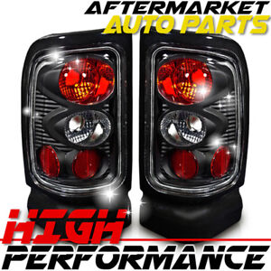 For 2000 Dodge Ram 2500 Van Altezza Tail Light Black Clear