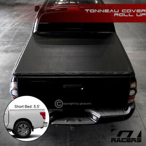 For 2016 2019 Nissan Titan 5 5 Ft 66 Bed Lock Roll Up Soft Vinyl Tonneau Cover