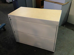 2 Drawer Lateral Size File Cabinet W Laminate Top W lock key 36 w