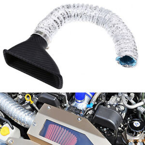 Car Auto Front Bumper Turbo Air Intake Pipe Kit Black Silver Style Abs Plastic