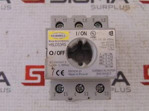 Hubbell Hblds3rs Disconnect Switch 30a 600vac