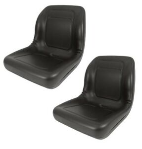 2 Of High Back Seat For John Deere Trail Turf Gator Skid Steer Loader 70 125