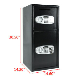 New Quality Double Door Office Security Lock Digital Safe Depository Drop Box