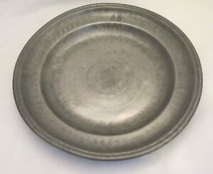 A Good 19th Pewter Charger Platter Touchmarks Kitchenalia