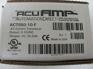 Automation Direct Act050 10 f Ac Current Transducer factory Sealed