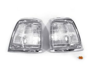 Depo Pair Of Clear Front Corner Lights For 1992 1995 Toyota Pickup Truck 2wd