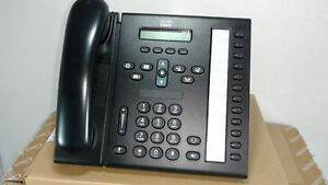 1 New Cisco 6961 Voip Unified Ip Phone 12 Line Cp 6961 c k9 Telephone Box Set