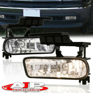 For 99 02 Chevy Silverado 1500 2500 Replacement Front Bumper Driving Fog Lights