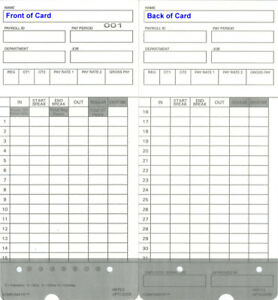 400 Time Cards For Upunch Hn2000 Hn4000 Autoalign uptc2000 1 Compatible