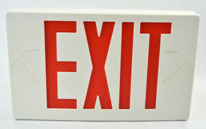 Light Up Hanging Plastic Exit Sign New Unused Suitable For Damp Locations