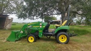 2008 John Deere 2305 Tractor 4x4 W loader And Pallet Forks Low Hours