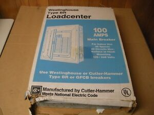Cutler Hammer Br 100 Amp Load Center