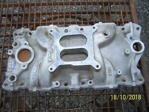Edelbrock 2701 Performer Eps Intake Manifold Small Block Chevy 4bbl Usa