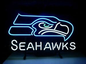 New Seattle Seahawks Neon Sign Beer Bar Pub Gift Light 17 x14