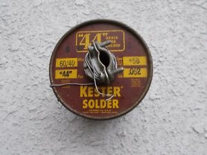 Vtg Kester 3 Lb 44 Resin Core Solder 062 Diameter 58 Core 60 40 Alloy Usa Made