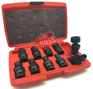 10pc 1 2 Dr Sae Shallow Universal Impact Socket Set