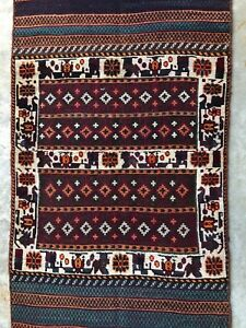 3x6 Bakhtiari Persian Tribal Authentic Handmade Vintage Wool Antique Rug Runner