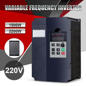 1 5 2 2kw 220v 3hp Single Phase Variable Frequency Drive Converter Vsd
