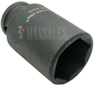 1 2 Dr Deep Impact Spindle Axle Nut Socket 6 point Cr mo choose Your Size