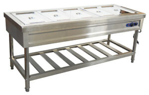 72 5 Pan restaurant Electric Steam Table Buffet Food Warmer 110v With Pans