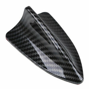 Shark Fin Roof Auto Antenna Aerial Decoration Car Trim Carbon Black Universal