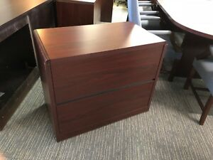 2 Drawer Lateral Size File By Hon Office Furn Model 10662 In Mahogany Laminate