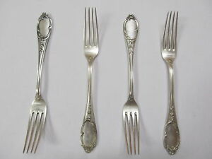 M Wilkens Sohne Germany 800 Silver Vintage 4 Fine Heavy Forks 8 Xlnt Cond