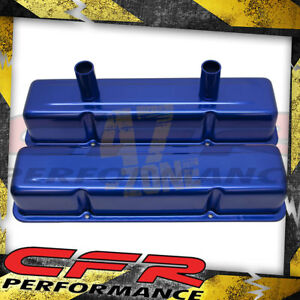 Aluminum Stamped Tall Valve Covers Chevy Sb Circle Track 283 400 Anodized Blue