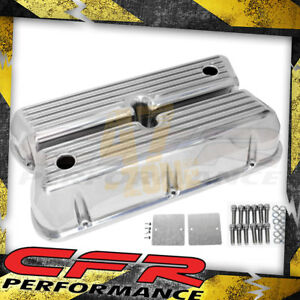 62 85 Ford Small Block 5 0l Tall Polished Al Valve Covers Full Finned