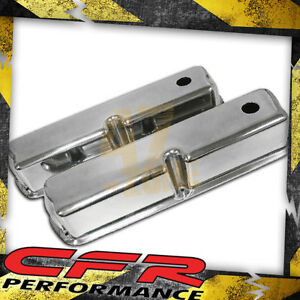 1962 85 Ford Small Block 289 302 351w 5 0l Tall Chrome Al Valve Covers Smooth