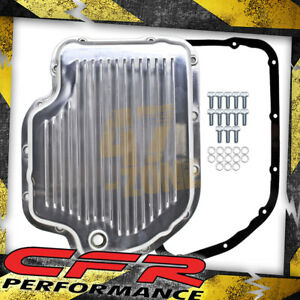 Chevy Gm Turbo Th 400 Aluminum Transmission Pan Kit Deep Finned Polished