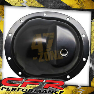 1986 90 Jeep Wrangler Dana 35 Black Steel Rear Differential Cover 10 Bolt
