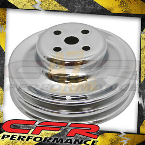 Steel Ford Sb 1965 1966 Water Pump Pulley 2 Groove Chrome