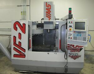 Haas Vf 2 Cnc Vertical Machining Center 1998 Vmc Mew Spindle Tooling