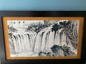 Antique Chinese Painting Calligraphy Ink Watercolor Rare And Fine Original