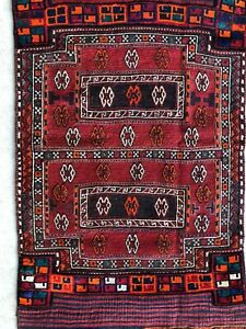 3x7 Gorgeous Vintage Handmade Wool Antique Bakhtiari Persian Carpet Rug Runner