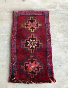 Vintage Boho Pale Hand Knotted Wool Soft Persian Turkish Pile Mini Rug Carpet
